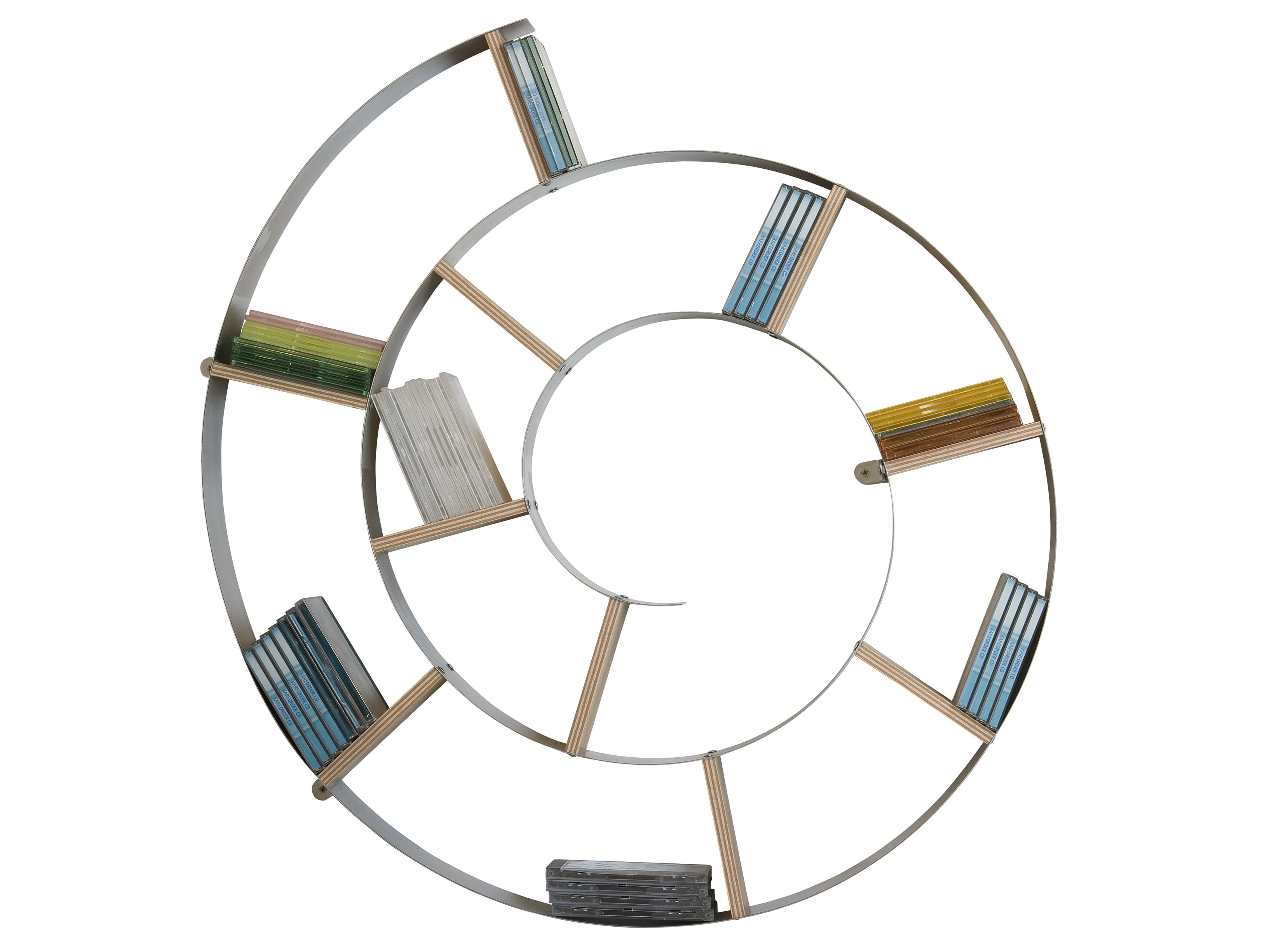 Tag re pour cd murale snail silver by kare design - Etagere murale pour cd ...