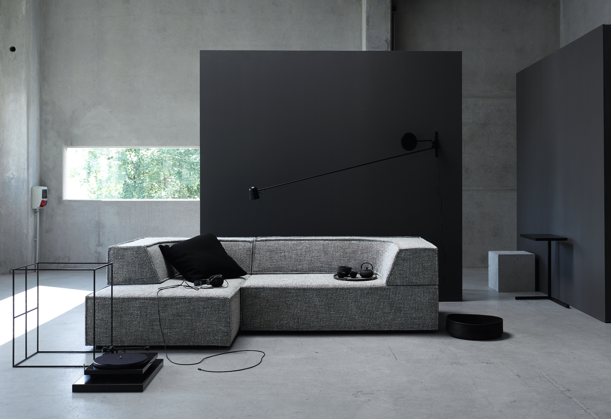 trio sofa with chaise longue trio collection by cor. Black Bedroom Furniture Sets. Home Design Ideas