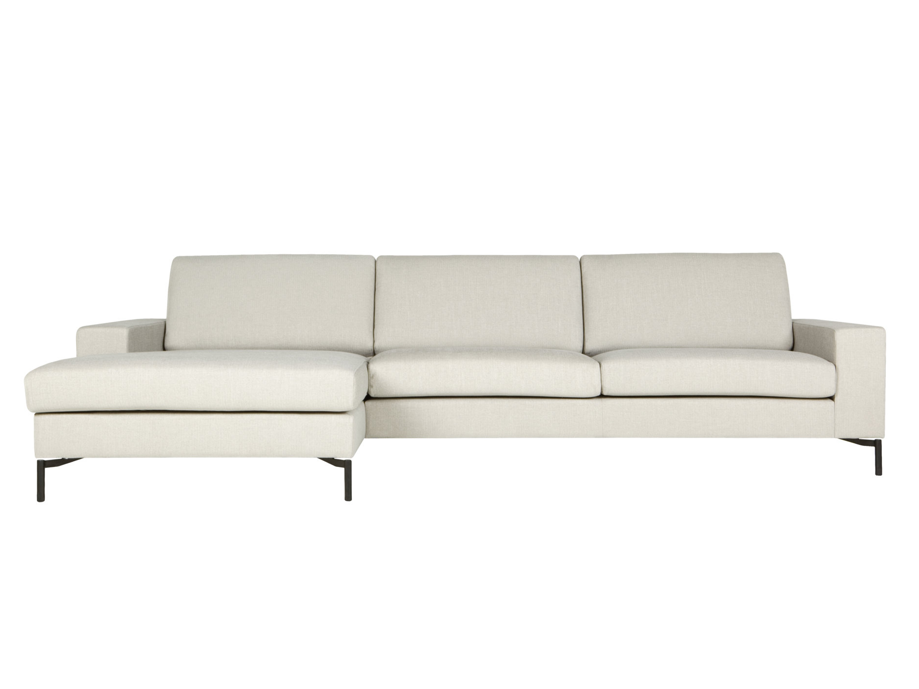 Quattro sofa with chaise longue quattro collection by sits - Chaise longue d interieur ...