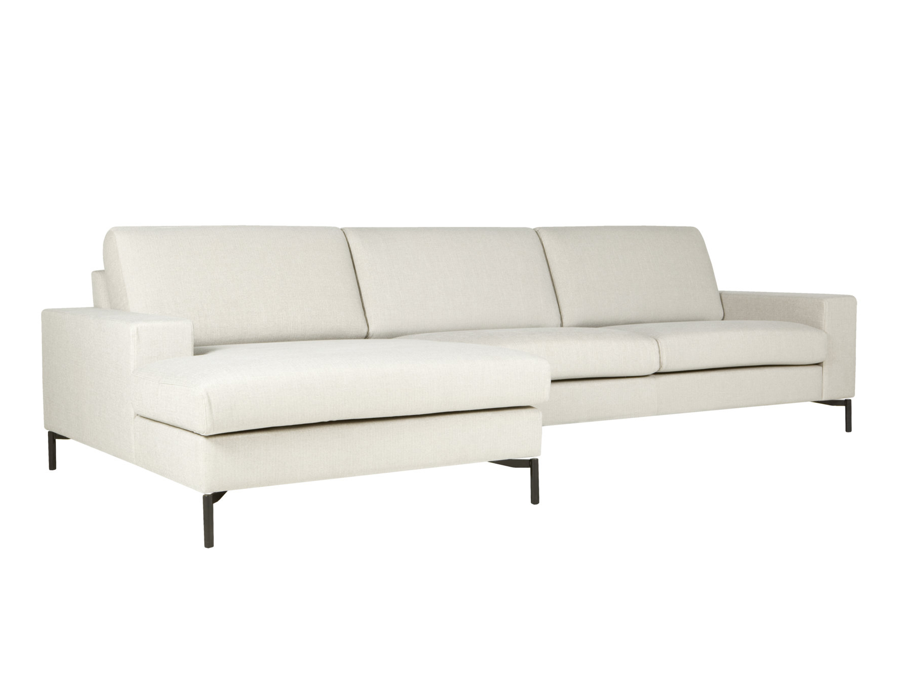 Quattro sofa with chaise longue quattro collection by sits for Sofa 1 plaza chaise longue