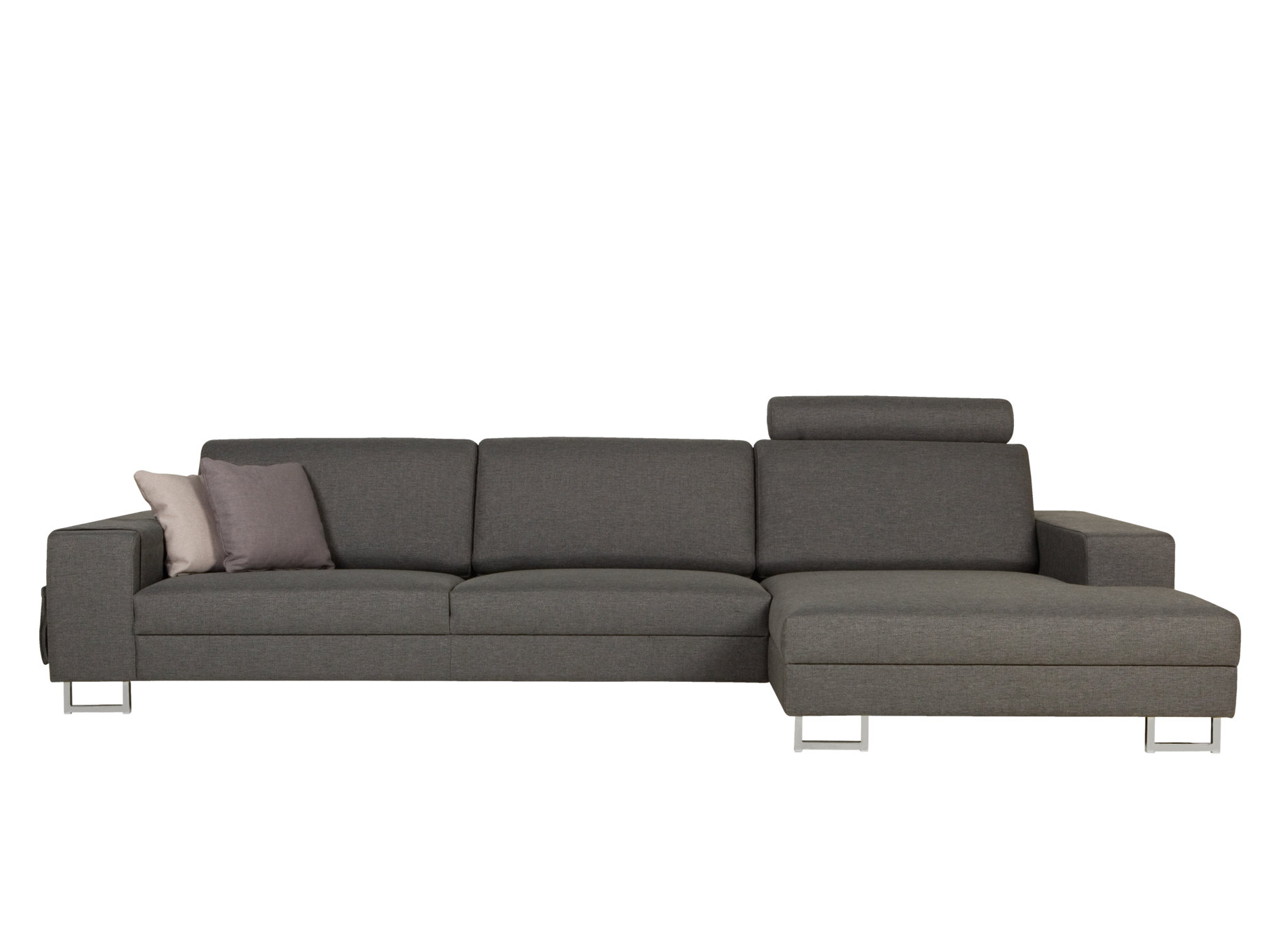 Quattro sofa with chaise longue quattro collection by sits for Chaise longue furniture