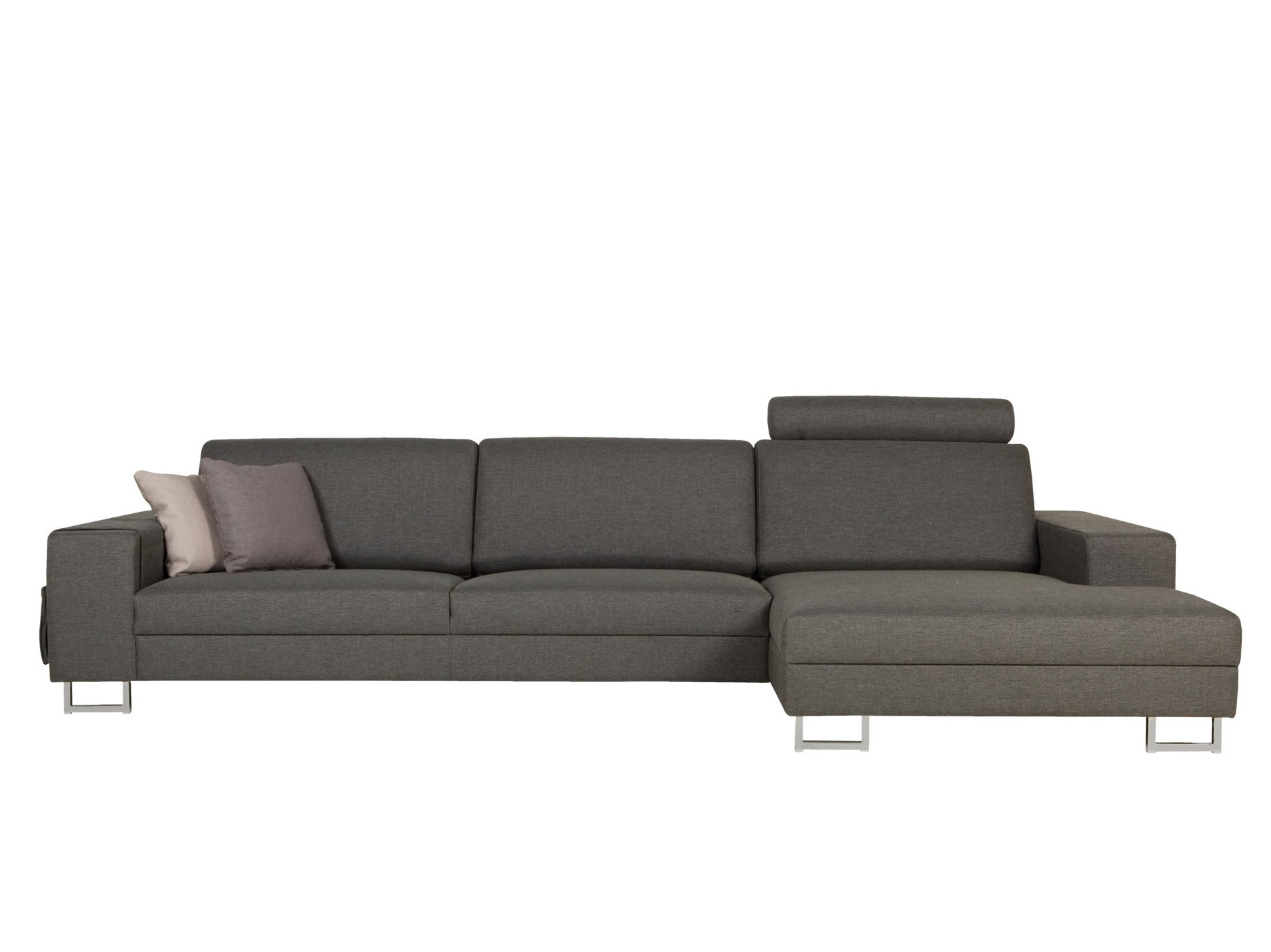 Quattro sofa with chaise longue quattro collection by sits for Chaise longue style sofa