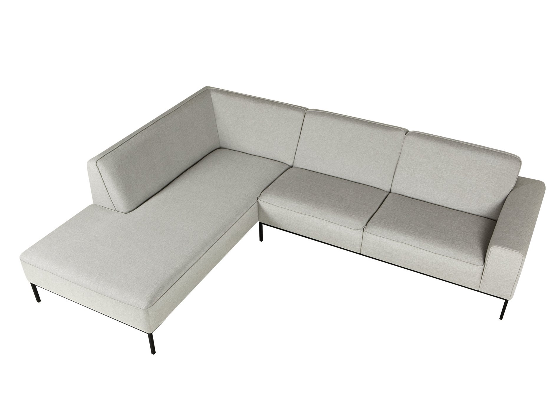 Ville sofa with chaise longue ville collection by sits for Chaise longue design piscine