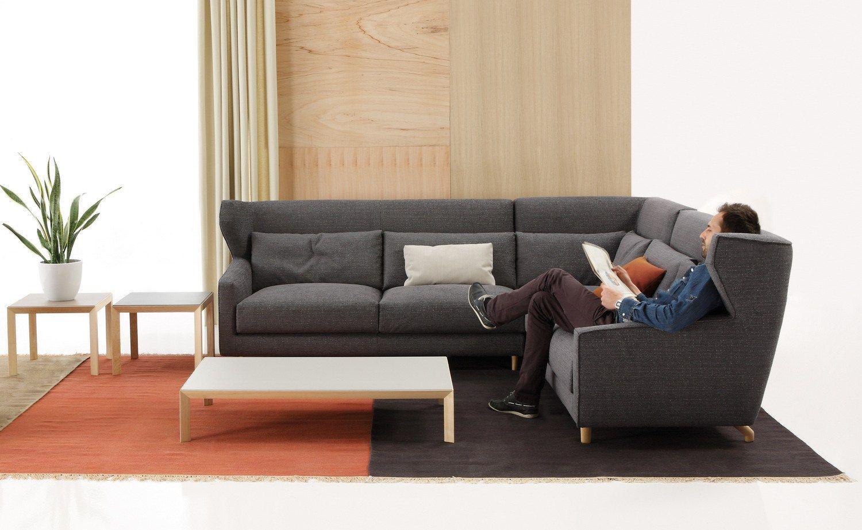 Fabric sofa with headrest folk collection by sancal design - Sancal folk ...