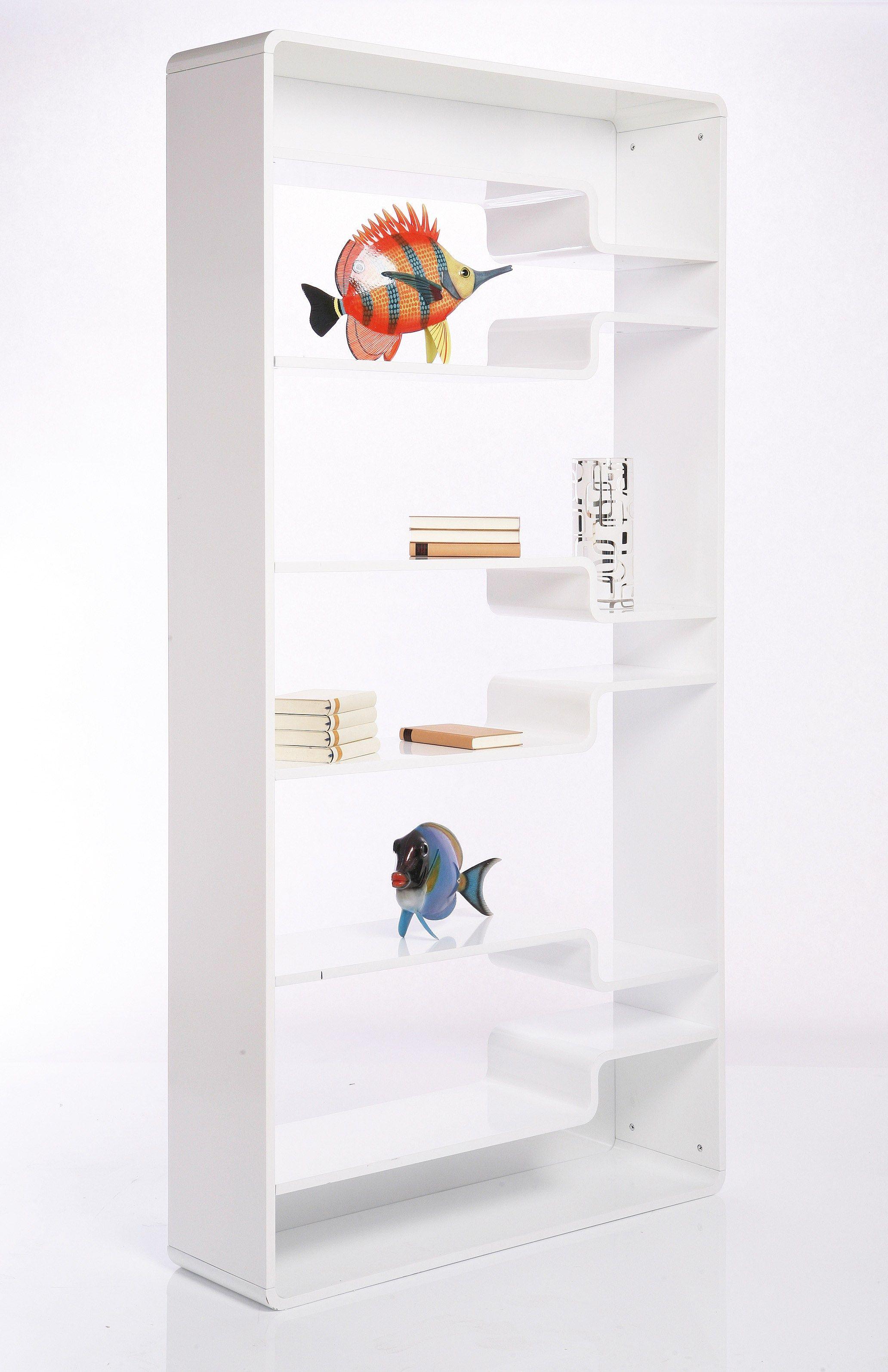 Libreria a giorno laccata in mdf soft shelf white by kare for Mobili kare design