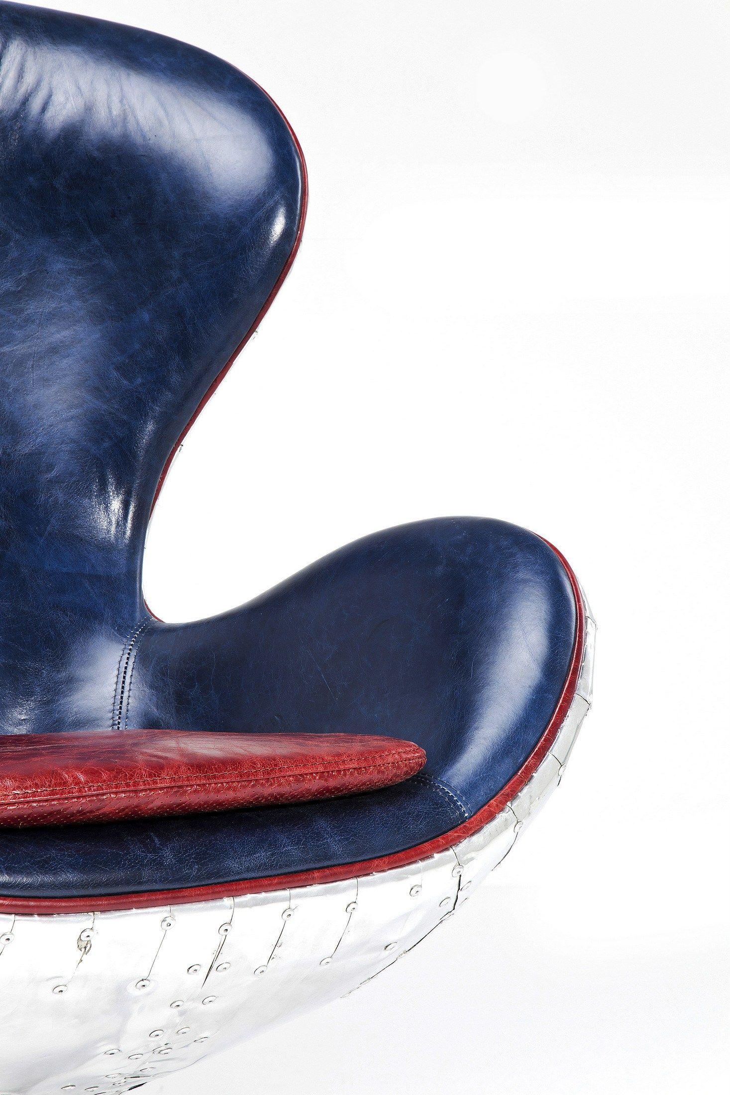 Swivel Leather Armchair Soho Big Boss By Kare Design