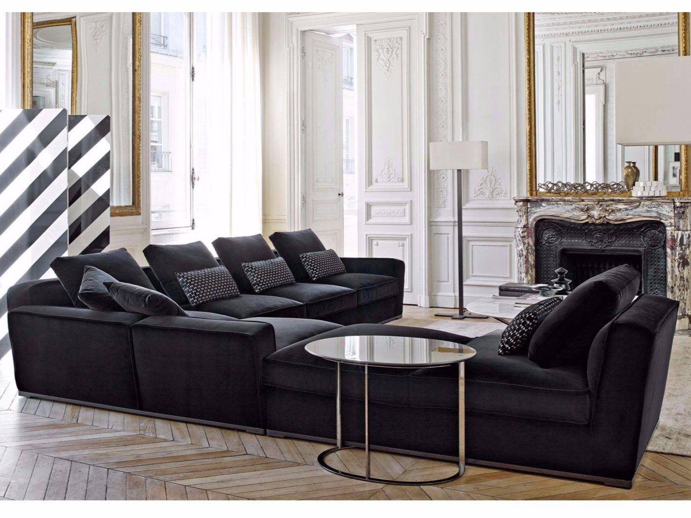 divano angolare componibile in tessuto collezione solatium