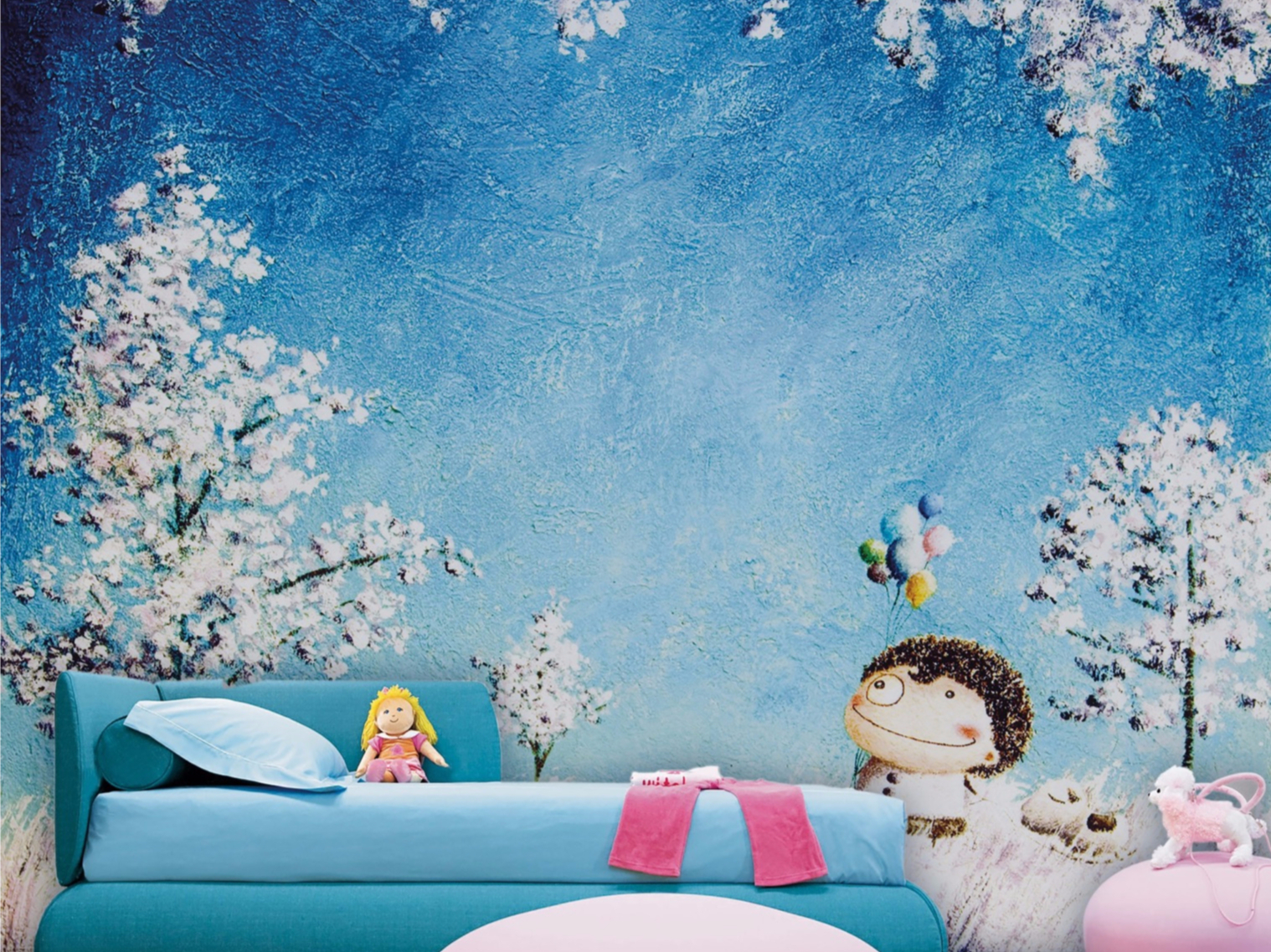 Carta da parati per bambini song of memory 01 collezione for Carta da parati 3d bambini