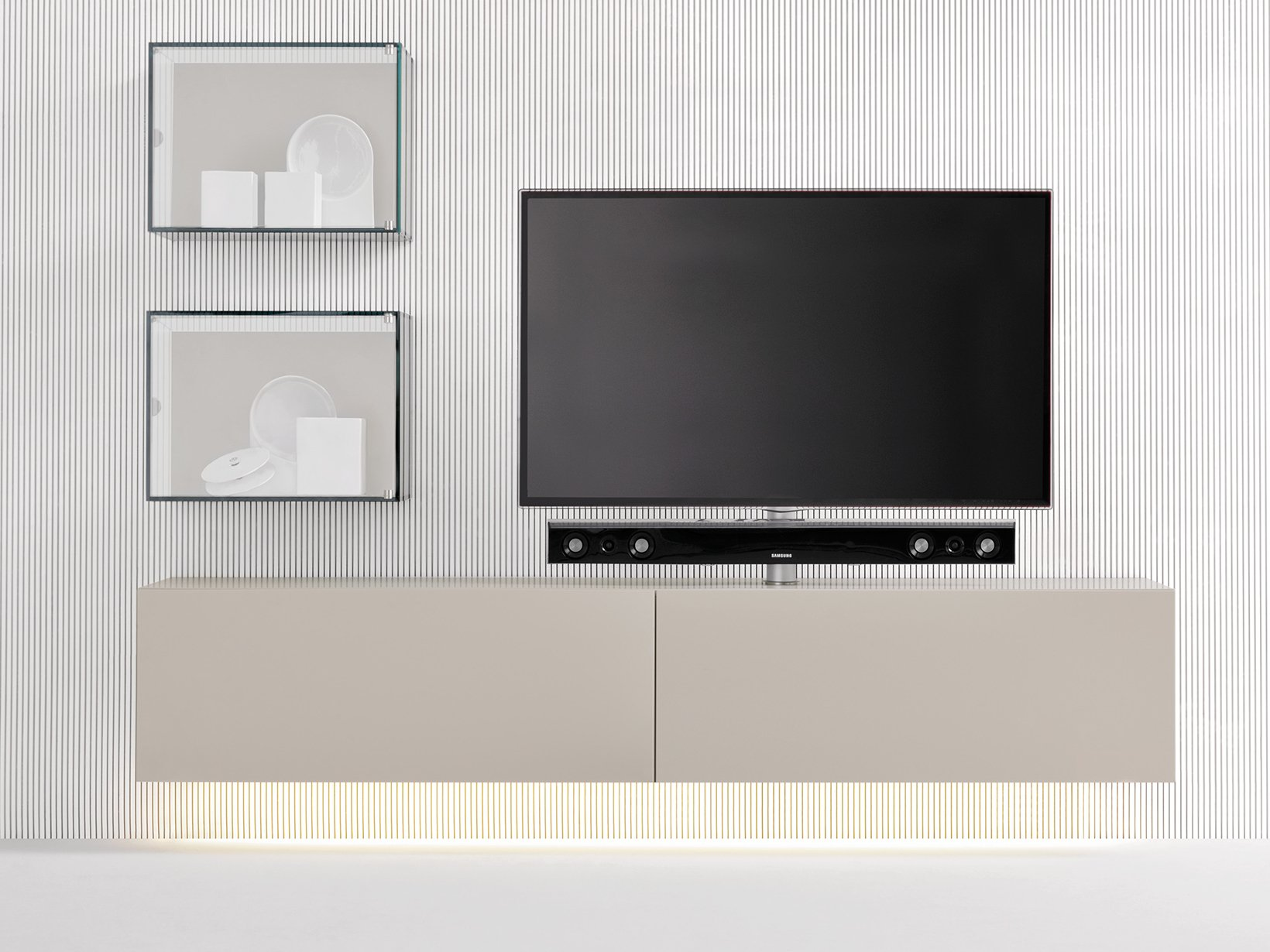 Sound system mobile tv sospeso collezione graphos by silenia