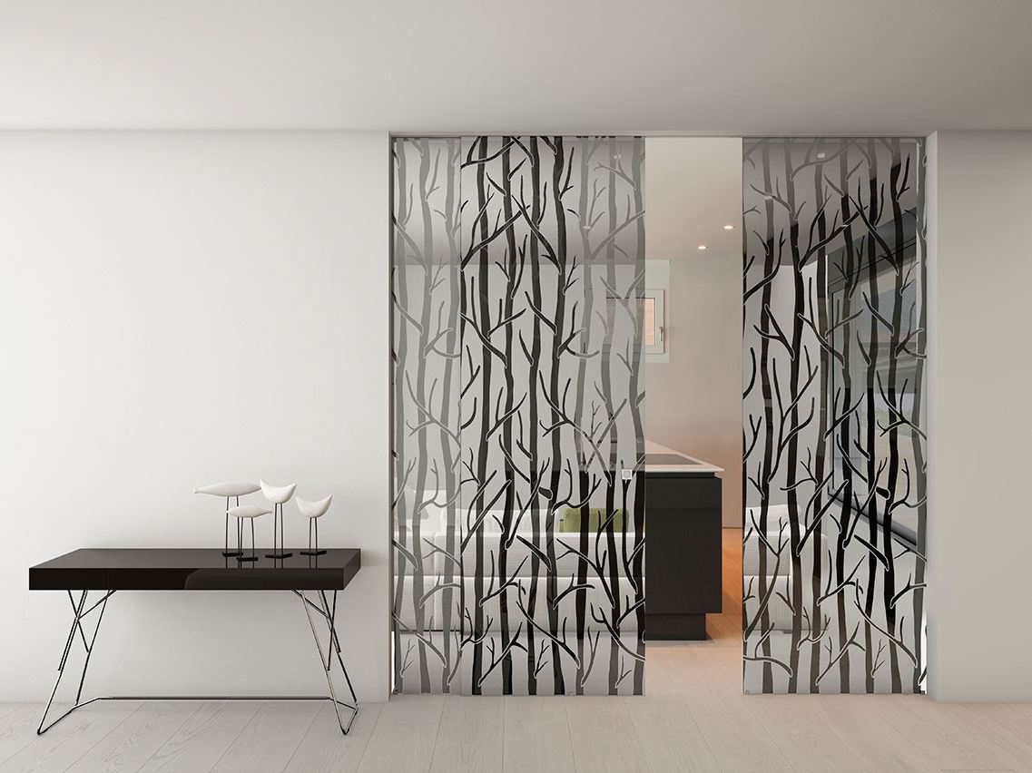 Porte Coulissante En Verre Space Luxury Forest Collection