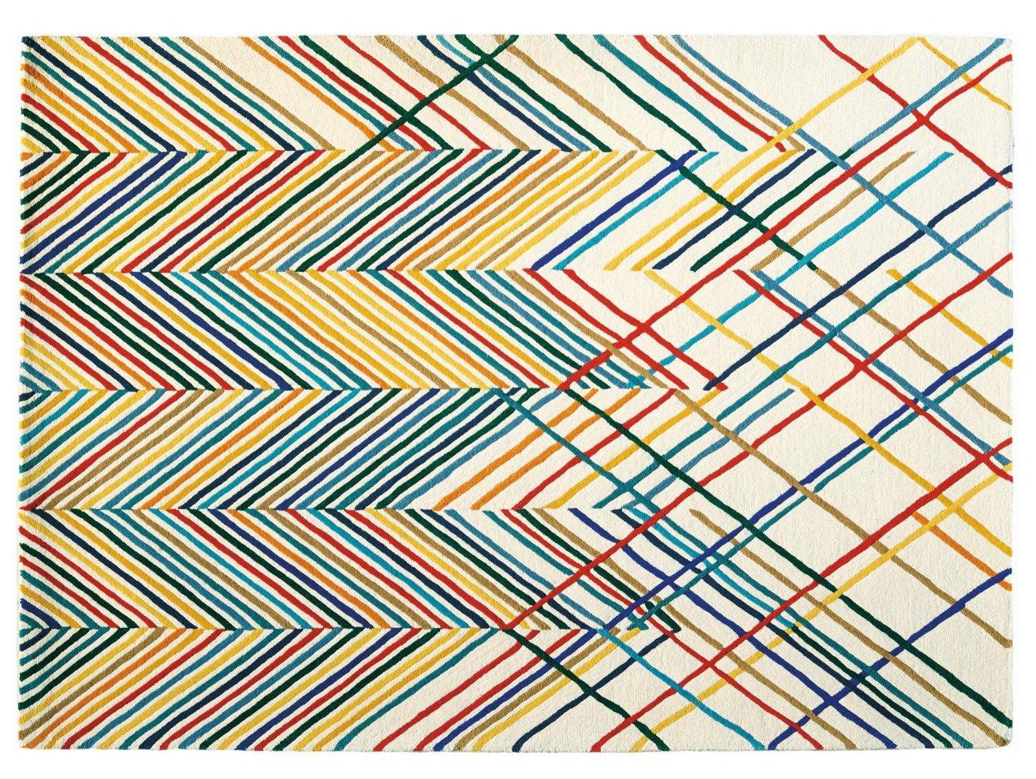 tapis fait main rayures en laine spike by toulemonde bochart design estudihac. Black Bedroom Furniture Sets. Home Design Ideas