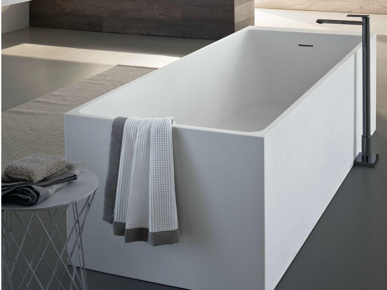 Vasca da bagno centro stanza rettangolare square - Bagno rettangolare ...