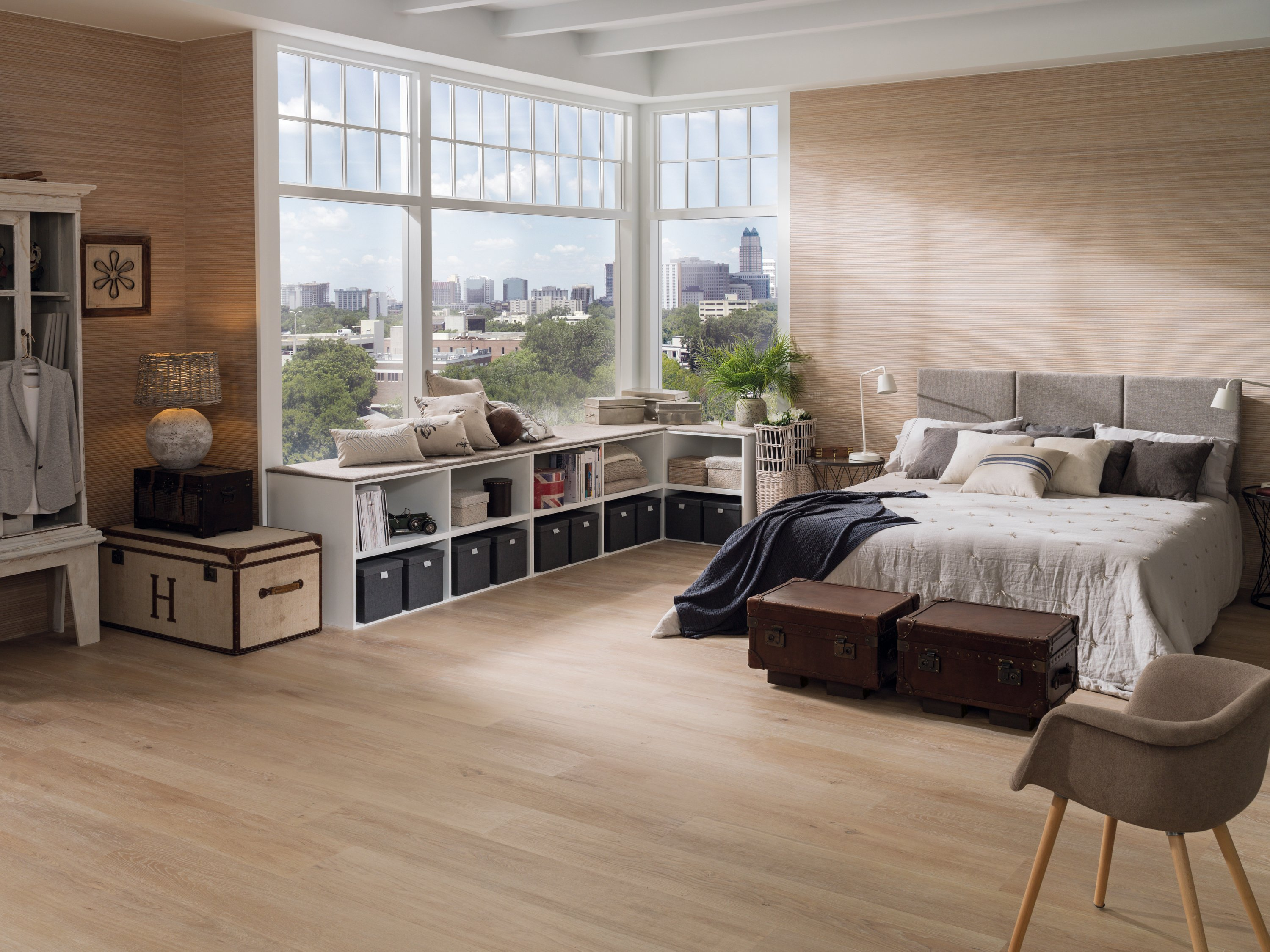 Porcelanosa wood effect floor tiles