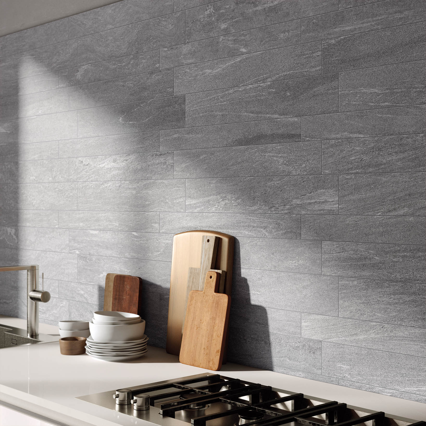 Pavimento rivestimento in gres porcellanato stonework for Rivestimento cucina