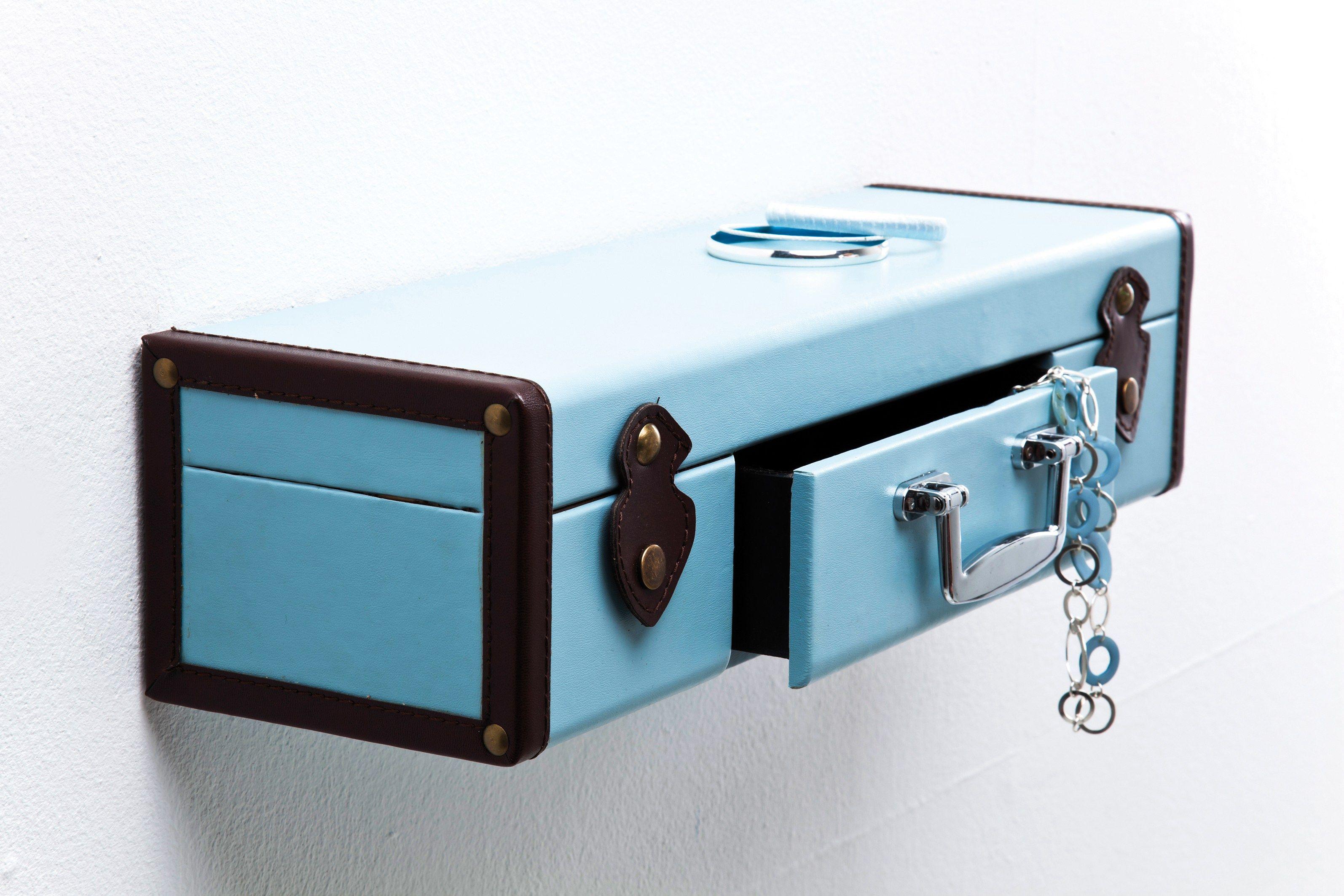 Wall Shelf Suitcase Light Blue By Kare Design