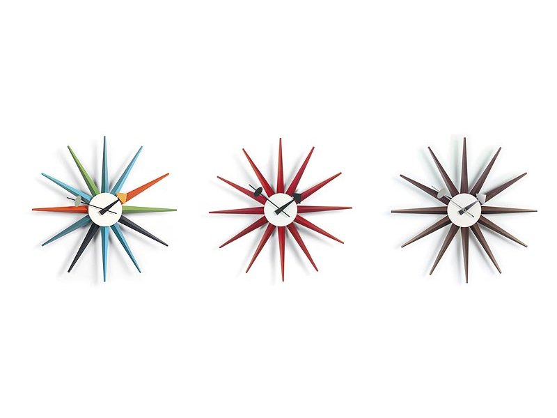 wallmounted clock sunburst clock wall clocks collection by vitra design george nelson