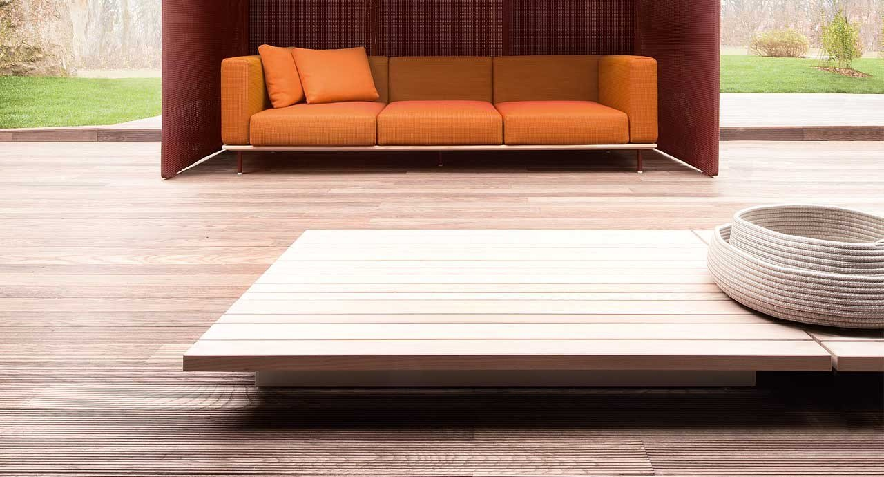 Low Square Wooden Coffee Table Sunset Collection By Paola Lenti Design Francesco Rota