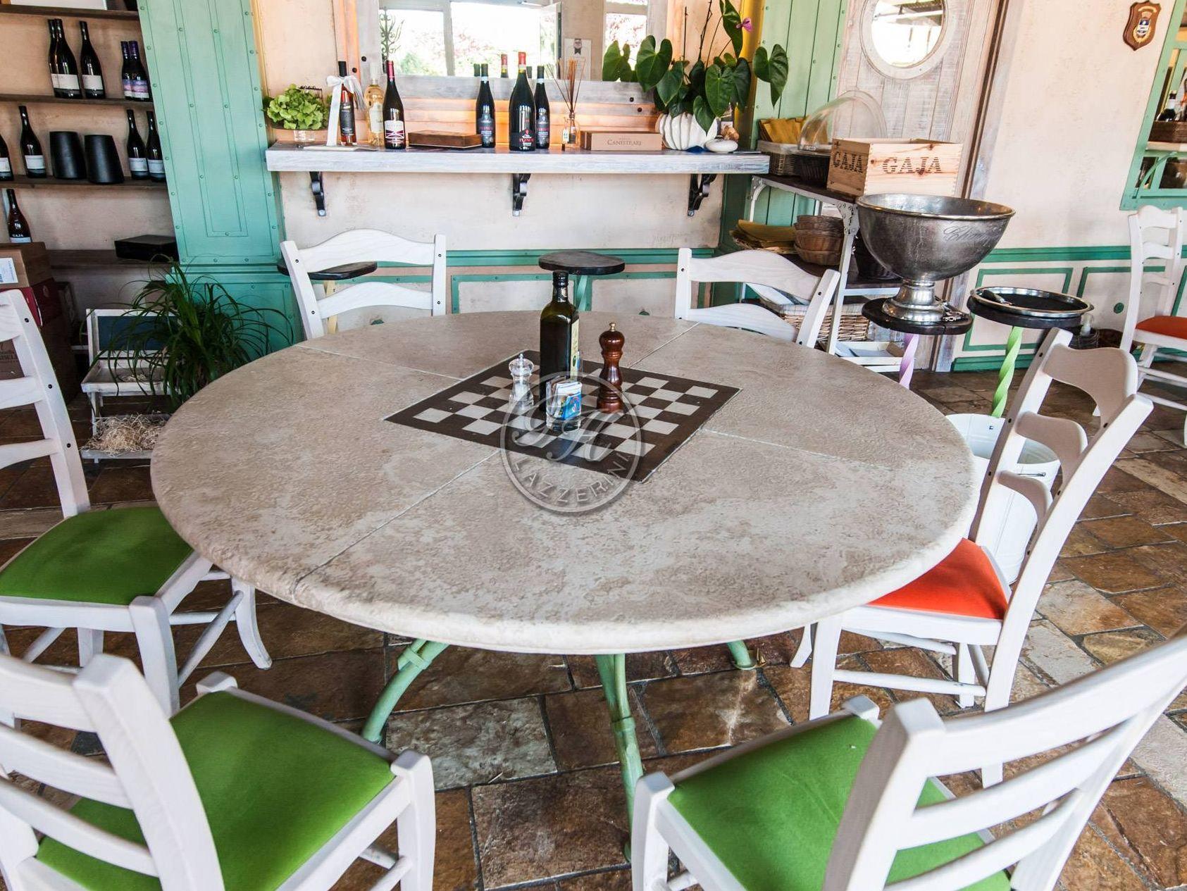 Tavoli Da Giardino In Pietra 3 Il Tavolo Rotondo Regina Soluzione Pictures to...