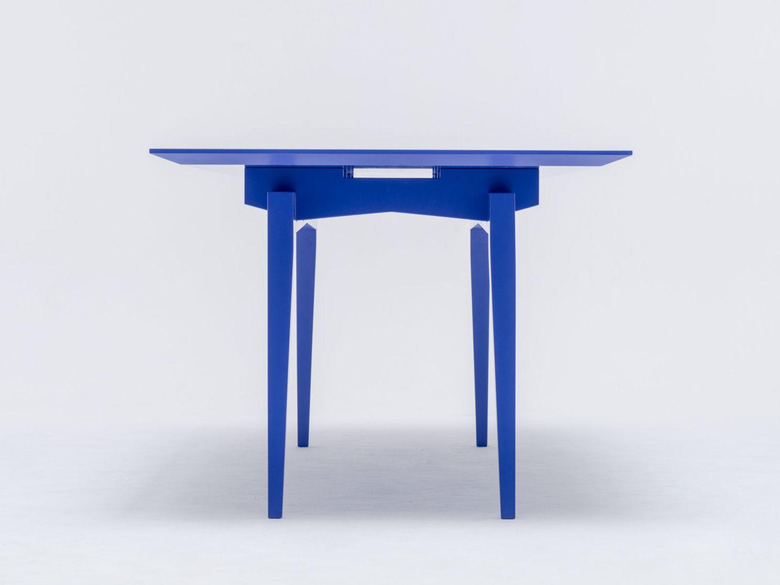 Tavolo da pranzo laccato rettangolare in legno massello - Dimensioni tavolo da pranzo ...