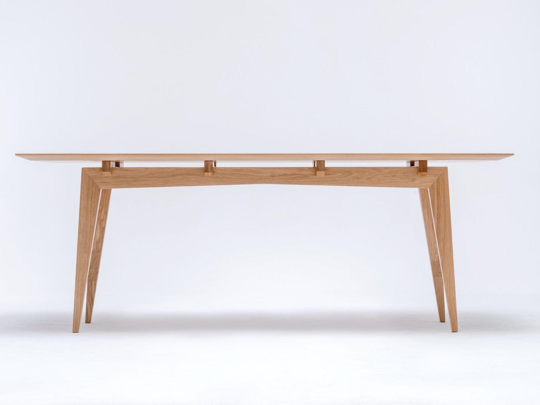 Tavolo da pranzo rettangolare in legno massello TAMAZA by ST FURNITURE