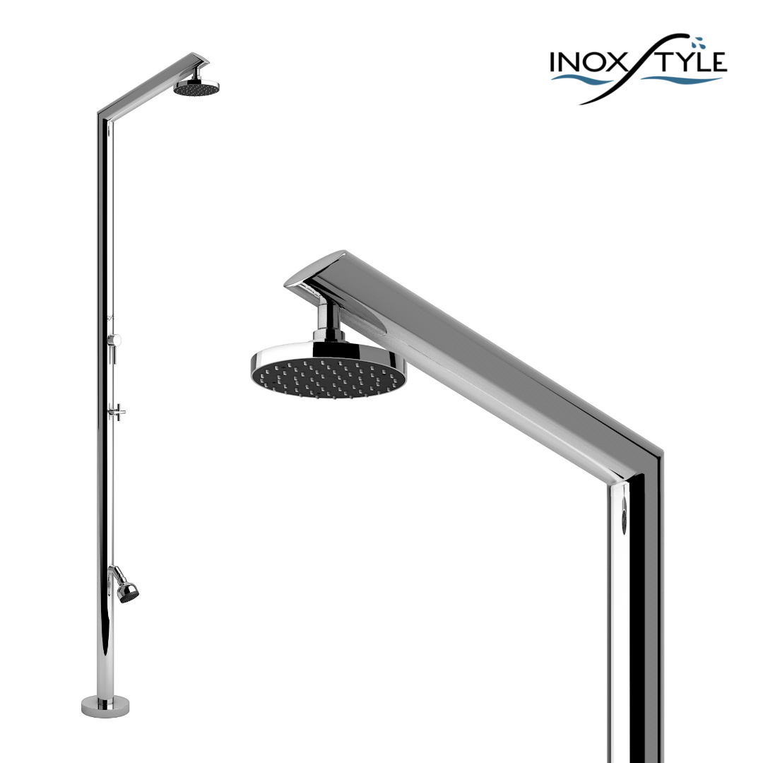 Stainless Steel Outdoor Shower TECNO ML Tecno Collection By Inoxstyle