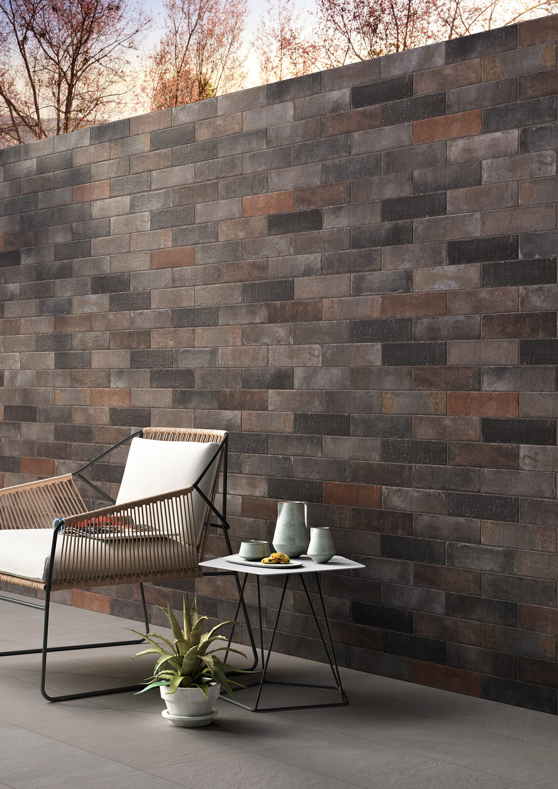 rev tement de sol mur en gr s c rame effet brique terramix by marazzi. Black Bedroom Furniture Sets. Home Design Ideas