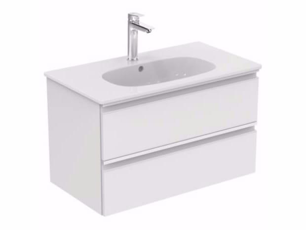 Mobile lavabo sospeso con cassetti tesi t0051 collezione for Tesi design ideal standard