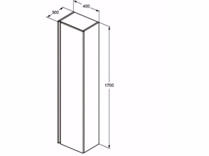 Mobile bagno a colonna tesi t0054 collezione tesi by ideal standard italia - Dimensioni standard bagno ...