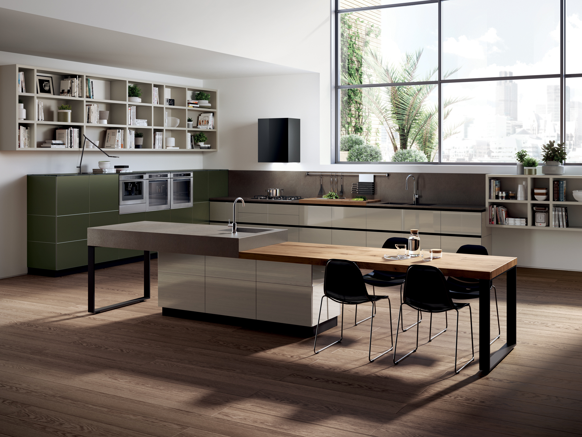 Fitted kitchen tetrix scavolini line by scavolini design - Fotos de cocinas americanas ...
