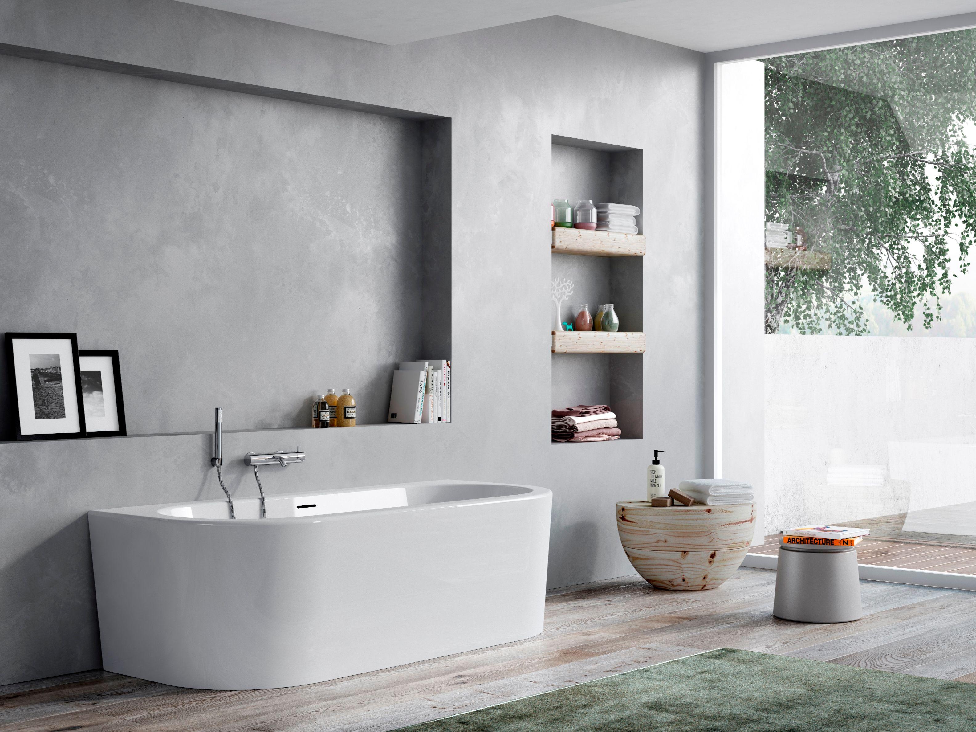 The essentials vasca da bagno collezione the essentials by - Parete vasca da bagno ...