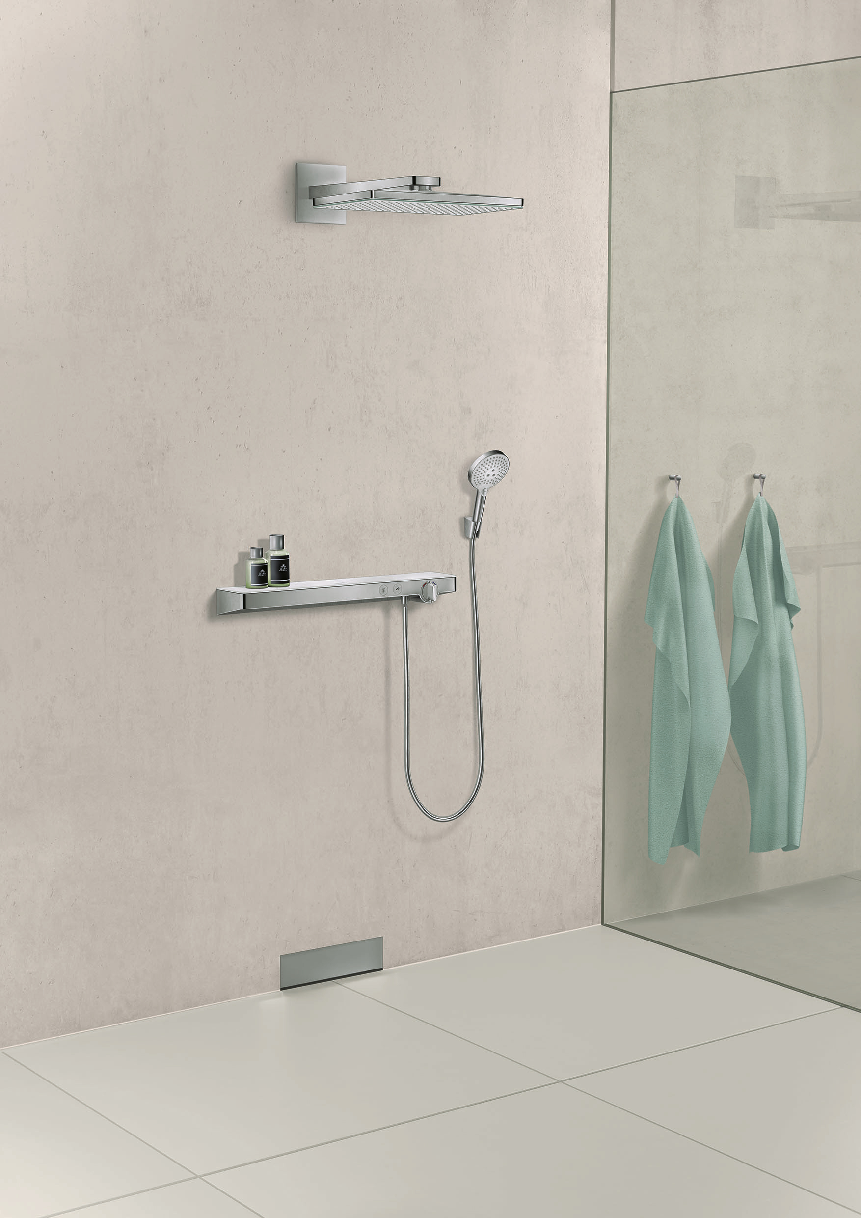 showertablet select 700 thermostatic shower mixer with. Black Bedroom Furniture Sets. Home Design Ideas
