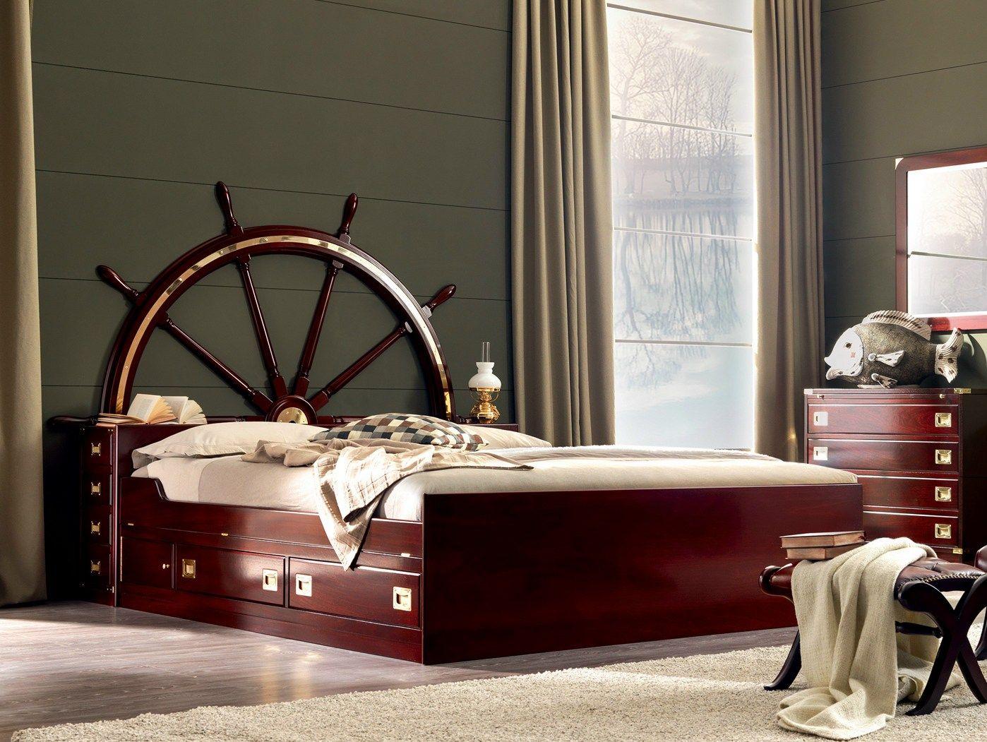 Timone letto con testiera contenitore by caroti - Testiera letto in legno ...