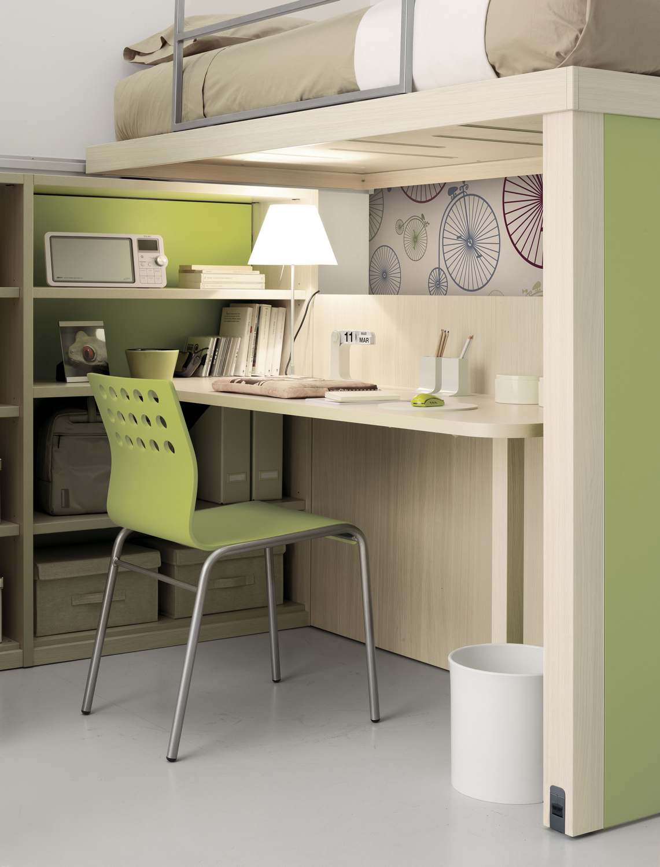 Schlafzimmer mit hochbett f r jugendliche tiramolla 906 for Jugendliche schlafzimmer
