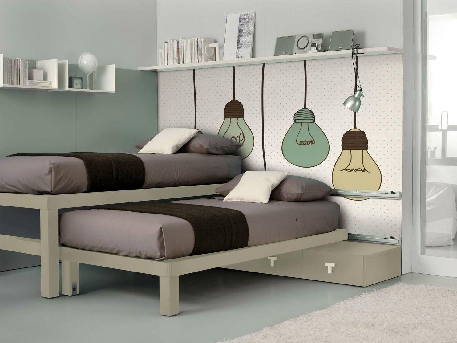 Cameretta con letto estraibile per ragazzi tiramolla 919 for Letti scorrevoli per camerette