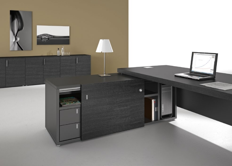 Titano bureau collection titano by for Bureau angle avec etagere