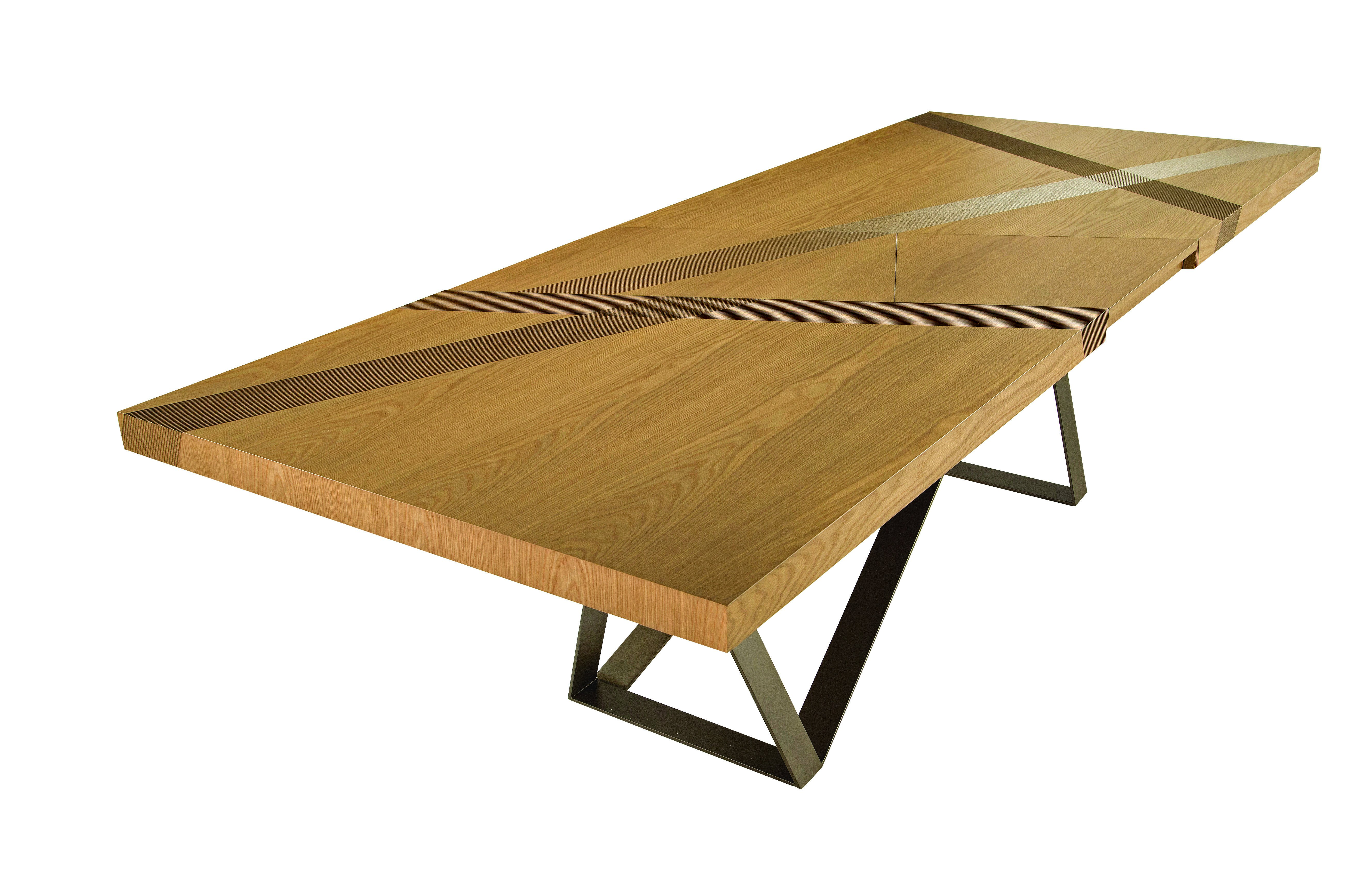 Table manger rectangulaire en placage de bois track for Table de salle a manger roche bobois