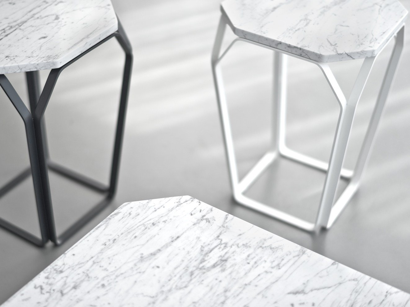 Marble bedside table