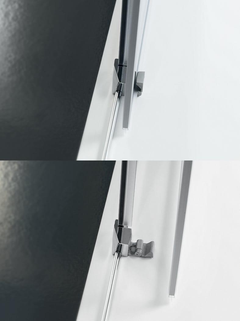 Box doccia in vetro con porta scorrevole trendy design 2 collezione trendy design by inda - Box doccia in vetro ...