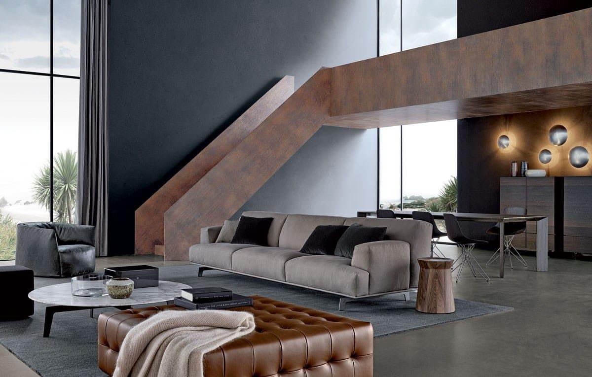 Tribeca fabric sofa tribeca collection by poliform design for Tribeca homes furniture