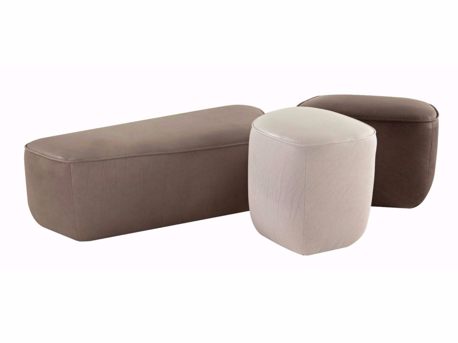 trilogie pouf in cuoio by roche bobois design sacha lakic. Black Bedroom Furniture Sets. Home Design Ideas