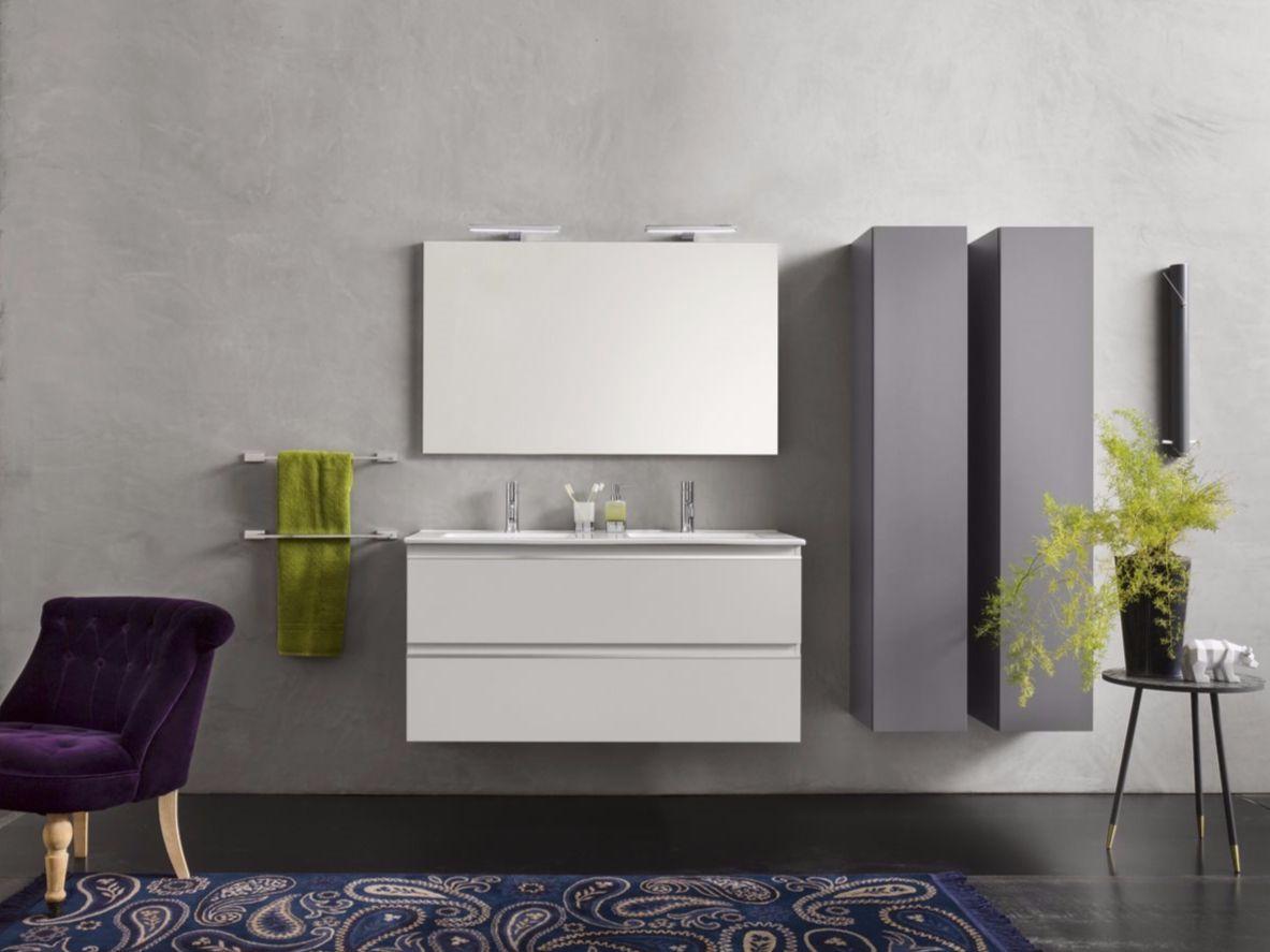 Meuble pour salle de bain / meuble sous vasque en stratifié urban ...