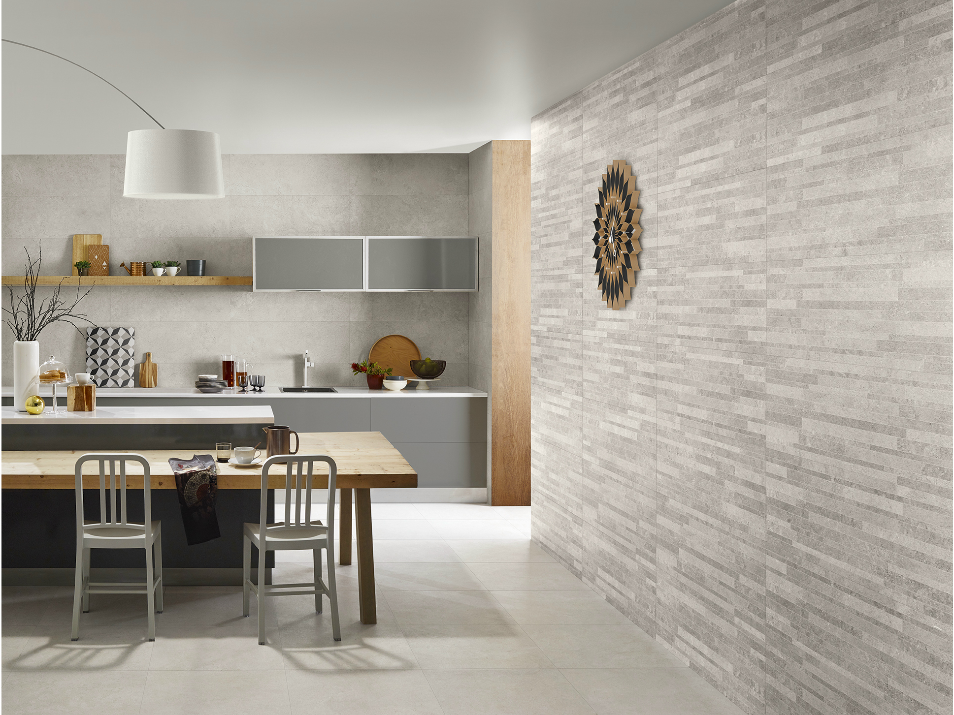 Ceramic wall tiles with stone effect nest collection by for Porcelanosa carrelage mural