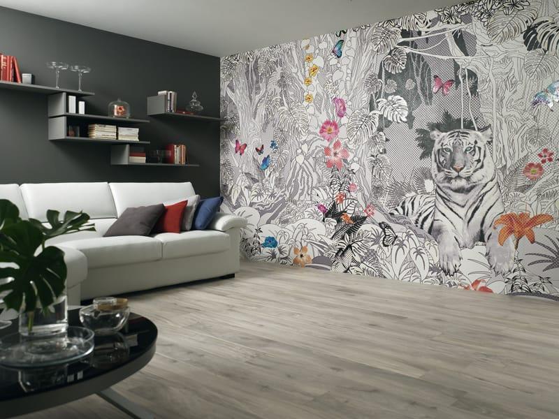 Relief panoramic nonwoven wallpaper WALLPAPER LUX JUNGLE