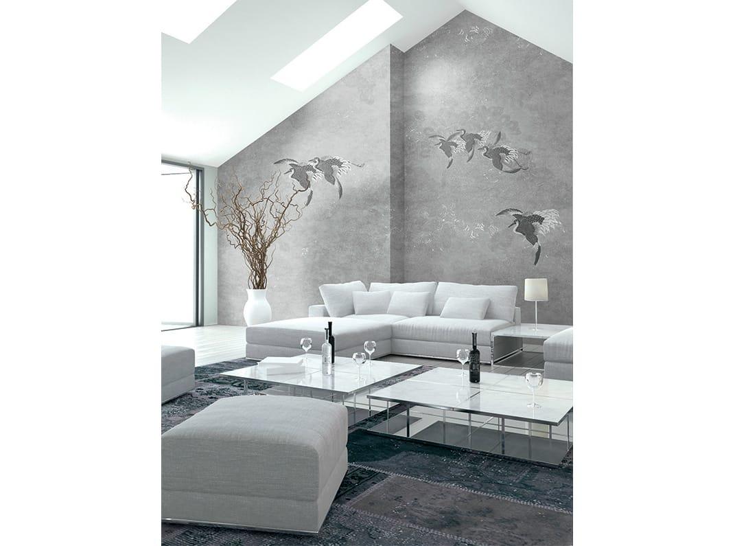 papier peint motifs panoramique en tissu non tiss. Black Bedroom Furniture Sets. Home Design Ideas