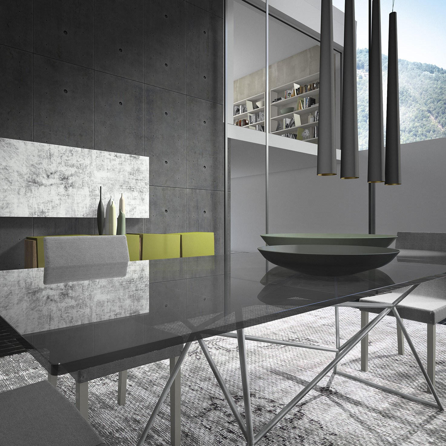 Rectangular glass table web by presotto industrie mobili for Www presotto it