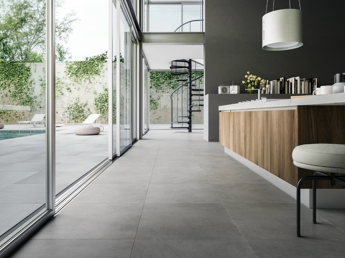 Porcelain stoneware wall floor tiles with marble effect - Colore case esterno ...