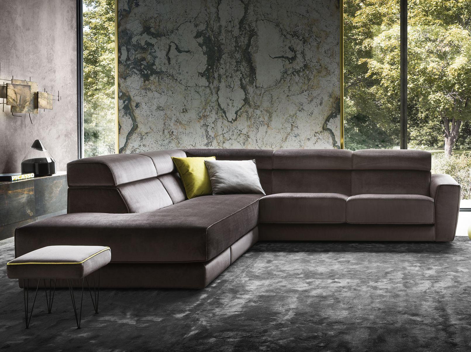 winston divano in velluto collezione softliving by felis