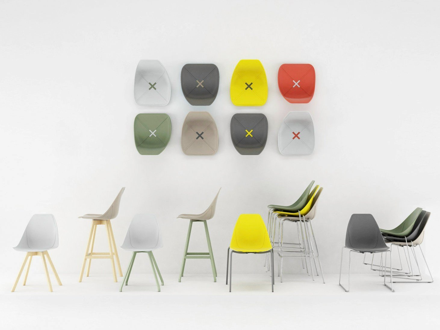 X stool counter stool x stool collection by alma design design mario mazzer - Chaises empilables design ...