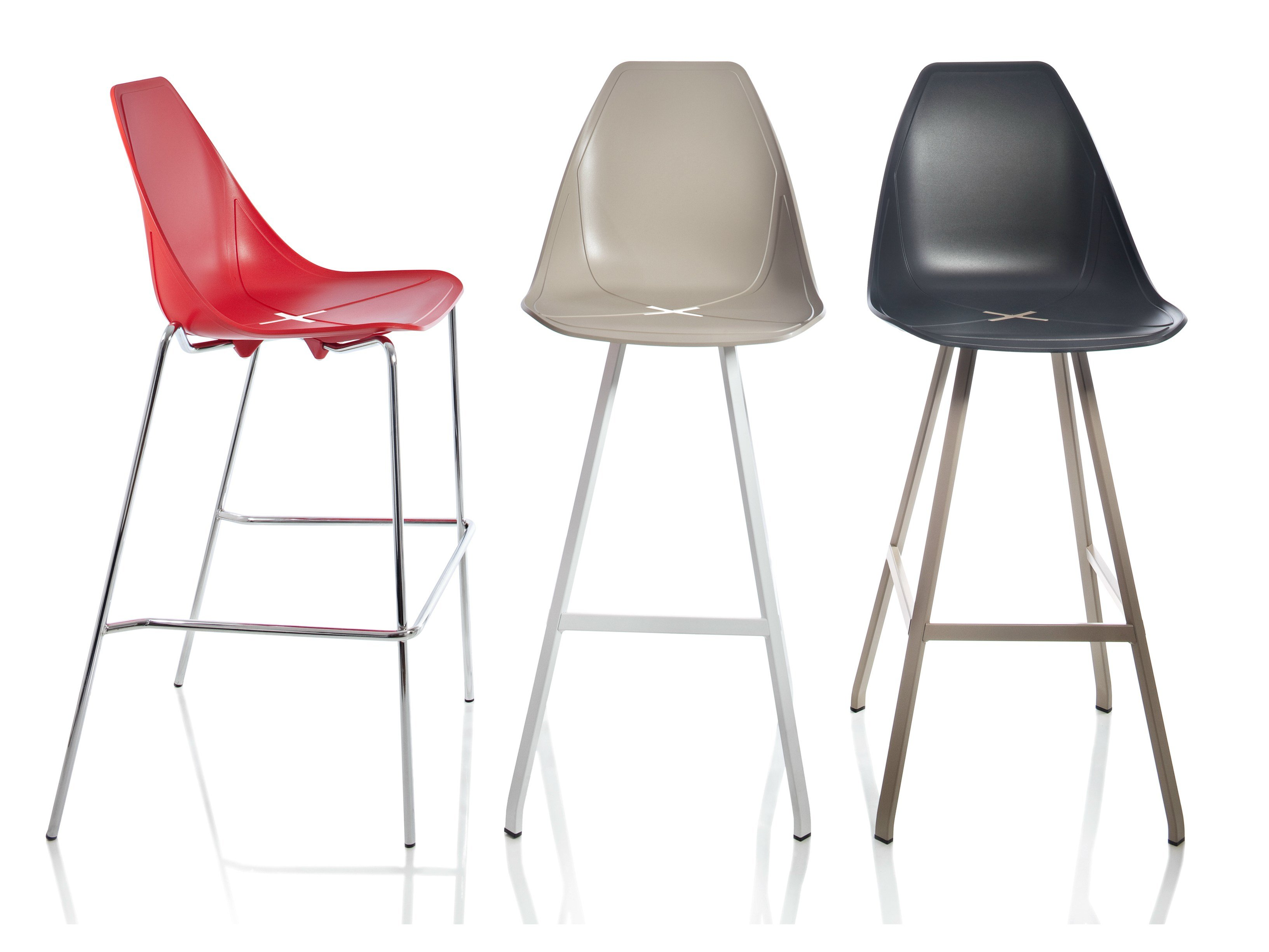X Stool Chaise De Bar Collection X Stool By Alma Design