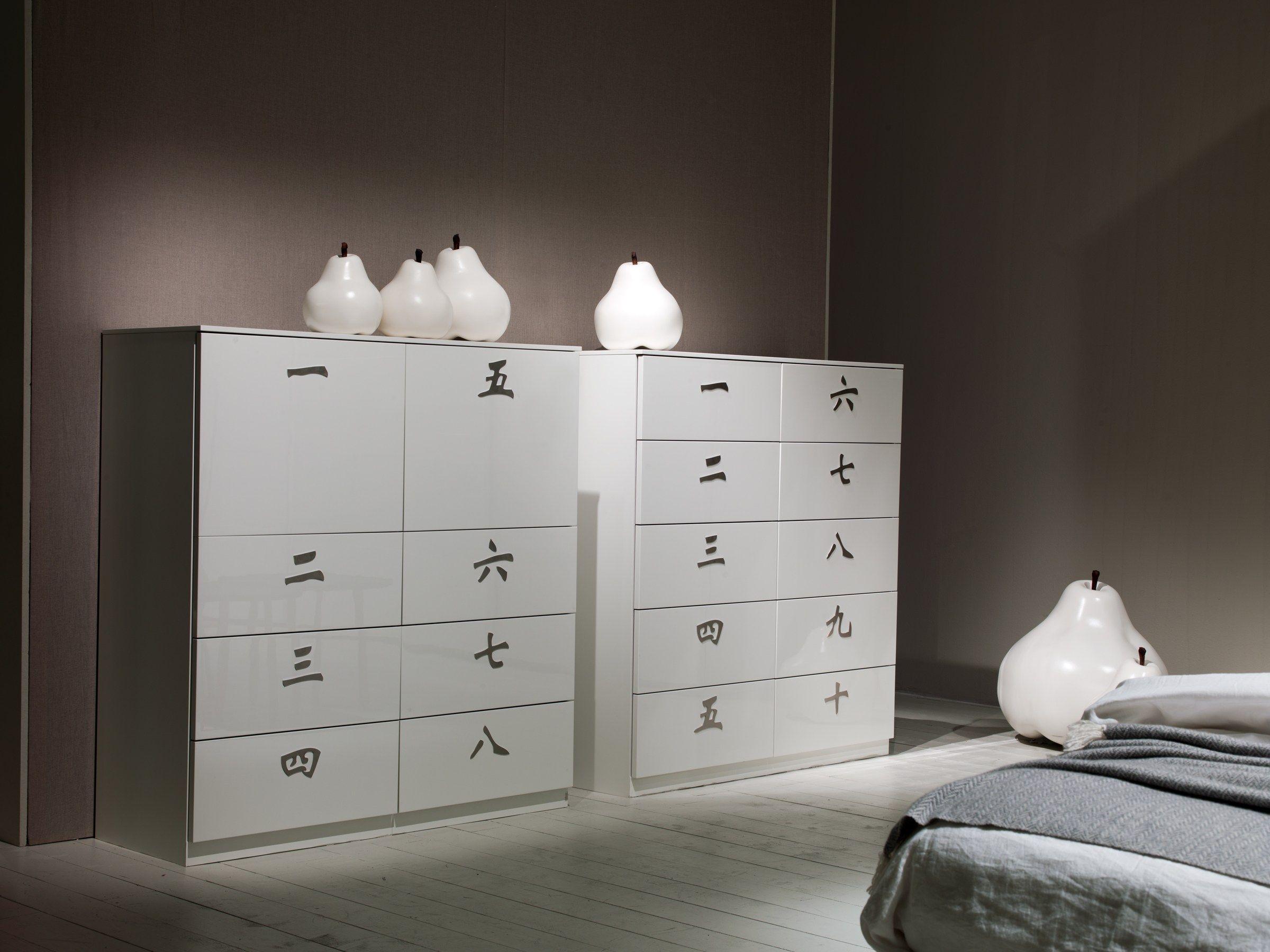 Kommode aus holz xian 10 drawers kollektion xian by emmebi design pietro arosio - Designer kommode aus holz naturliche gelandeformen ...